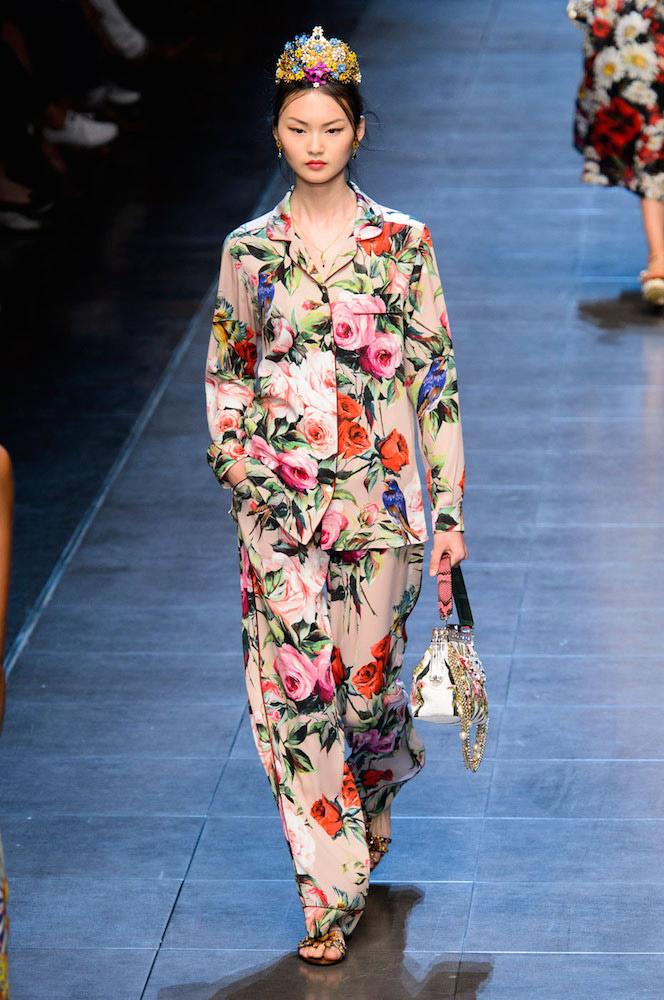 Florals: Dolce & Gabbana Spring 2016