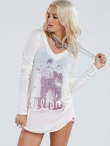 Chaser Blondie Draped Back Tee
