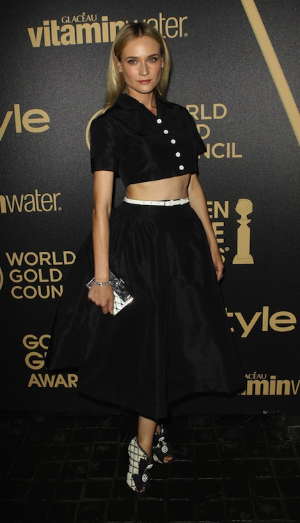 Diane Kruger's Sophisticated Black and White Combo