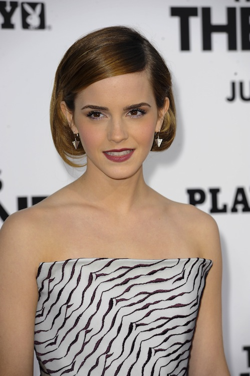 Emma Watson's Sophisticated Side-Part Bob