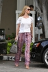 Rosie Huntington-Whitley Printed Trousers