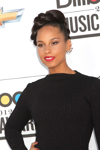 Alicia Keys' Creative Updo