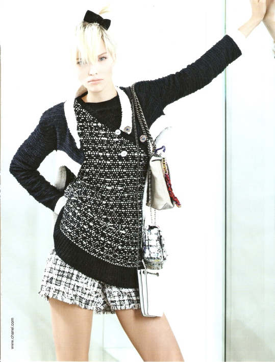 Sasha Luss for Chanel (by Karl Lagerfeld)