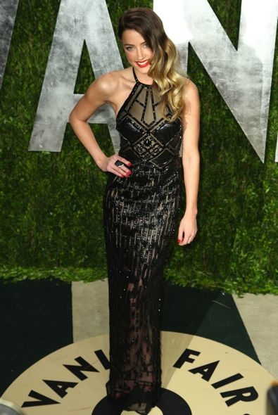 Amber Heard at the 2013 Vanity Fair Oscar Party