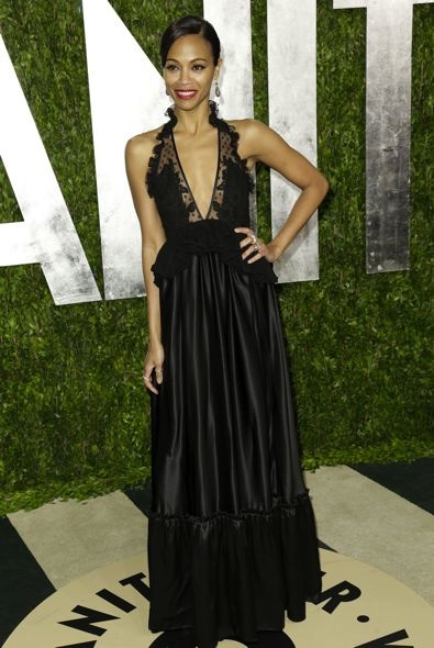 Zoe Saldana at the 2013 Vanity Fair Oscar Party