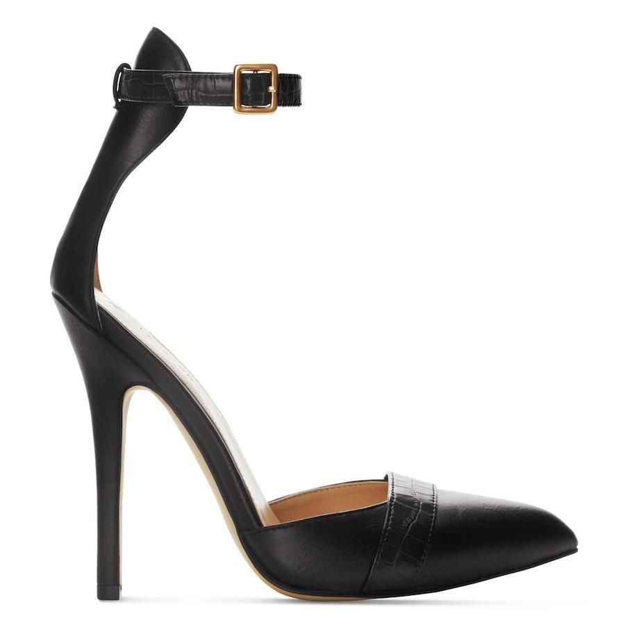 Ankle Strap Shoe In Black