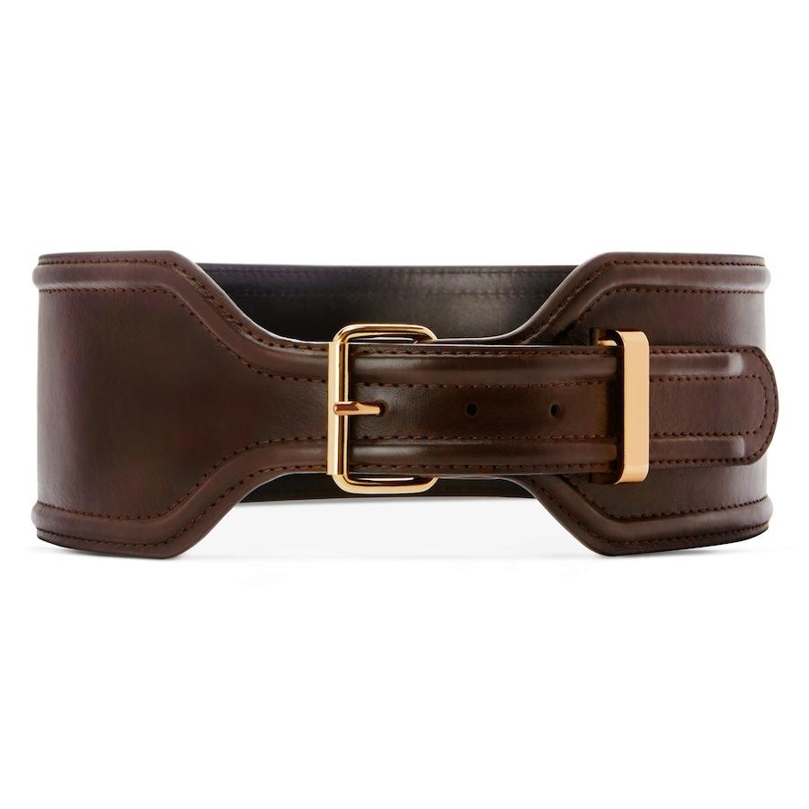 Croc Effect Belt In Brown