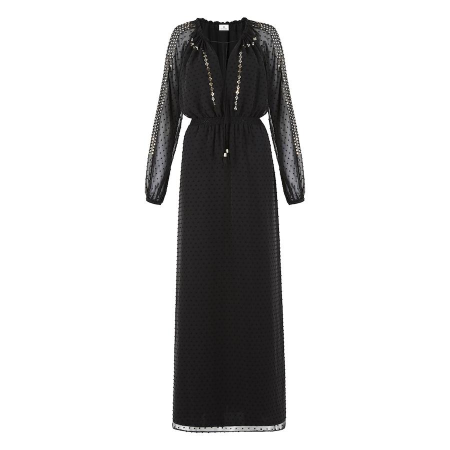 Easy Waist Maxi Dress In Swiss Dot