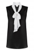 Bow Blouse In Black & White
