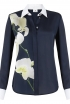 Oxford Shirt In Navy Orchid Print
