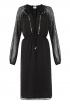 Romanian Dress In Black Swiss Dot