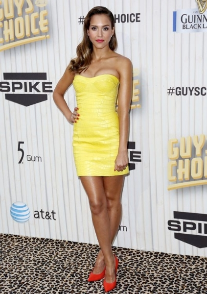 Jessica Alba at Spike TV's Guys Choice Awards 2013