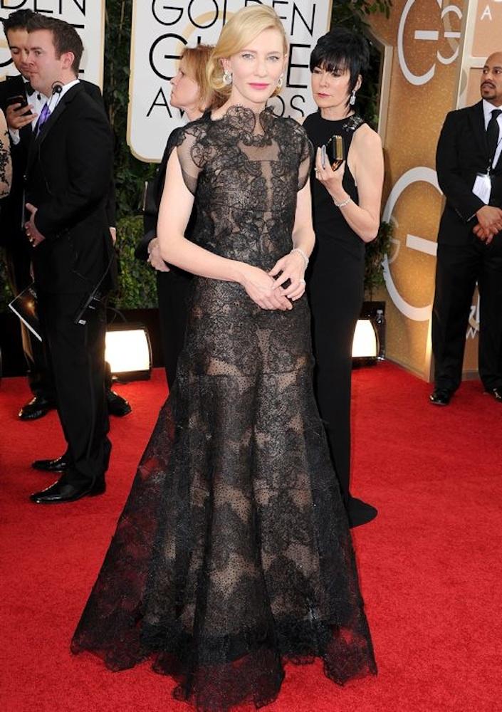7. Cate Blanchett at the Golden Globe Awards