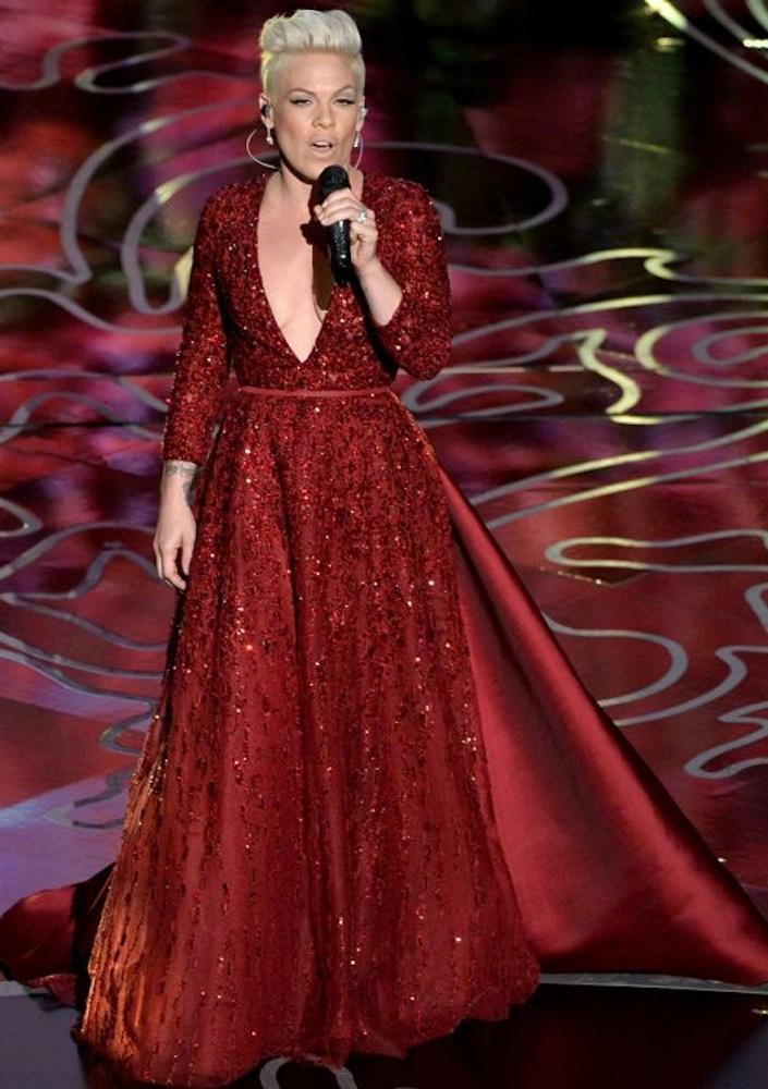 5. Pink at the Oscars