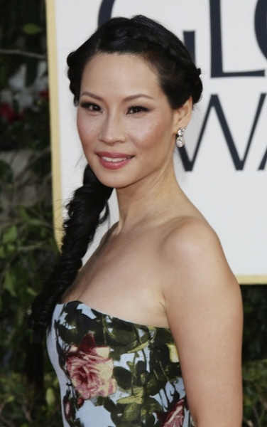 Lucy Liu at the Golden Globes