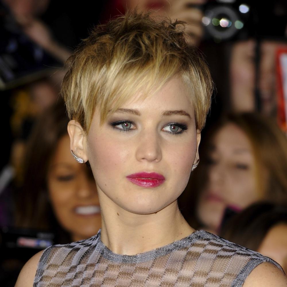 Jennifer Lawrence Pixie Haircut Back The pixie