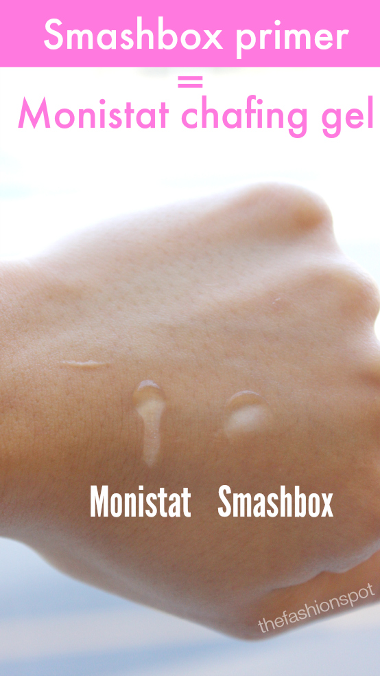 Monistat chafing gel is practically the same thing as Smashbox Photo Finish Primer
