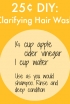 Clarify your hair with apple cider vinegar