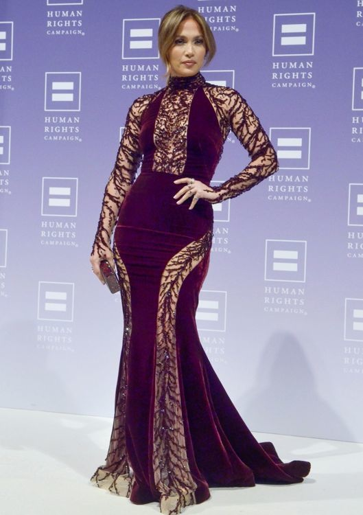 Jennifer Lopez at the 2013 Human Rights Campaign National Dinner