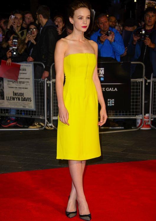 Carey Mulligan at the 57th BFI London Film Festival Premiere of Inside Llewyn Davis