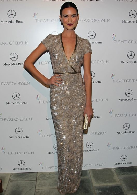 Odette Annable at the 2014 Art of Elysium Heaven Gala