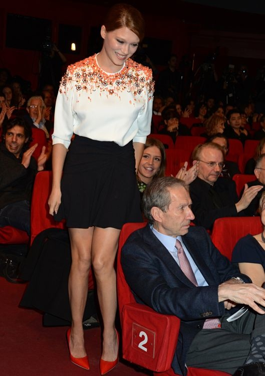 Léa Seydoux at the Les Lumières 2014 Cinema Awards 19th Ceremony