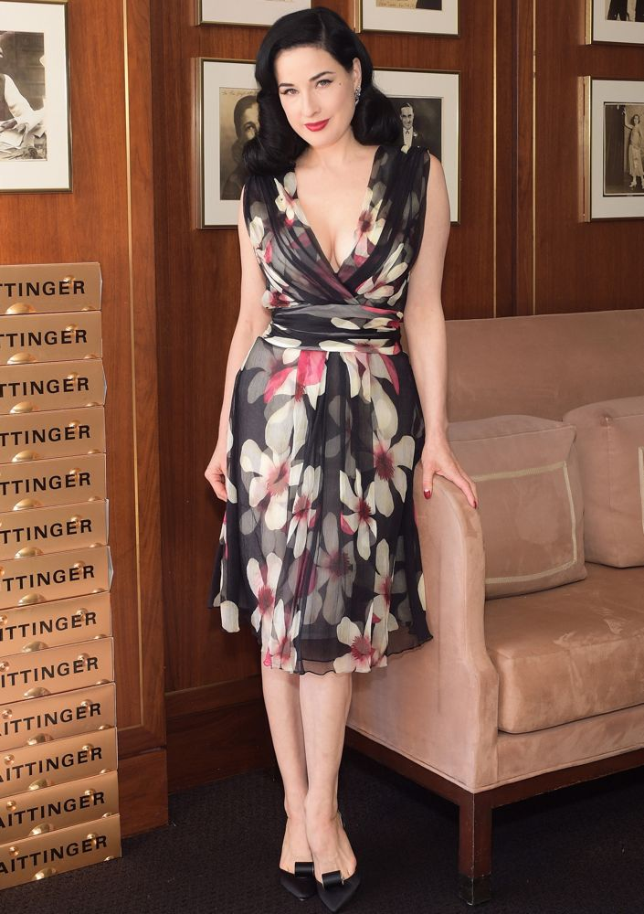 Dita Von Teese at the Champagne Taittinger Women in Hollywood Event