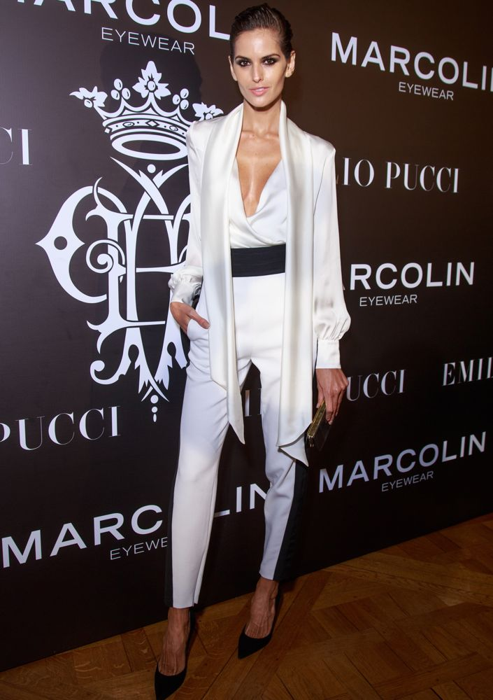 Izabel Goulart at the Emilio Pucci Eyewear Launch Cocktail and Dinner