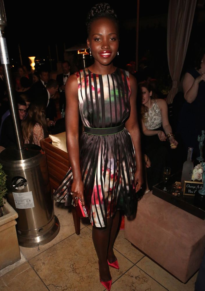 Lupita Nyong'o at The Weinstein Company & Netflix 2015 SAG Awards After-Party