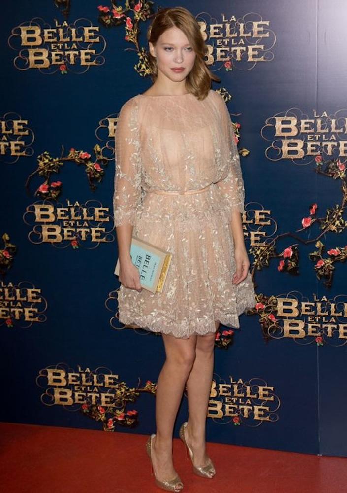 Léa Seydoux at the Paris Premiere of La Belle et la Bête