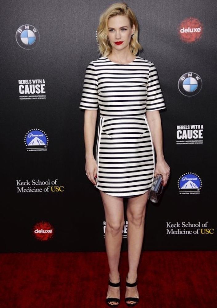 January Jones at the 2nd Annual Rebels With A Cause Gala