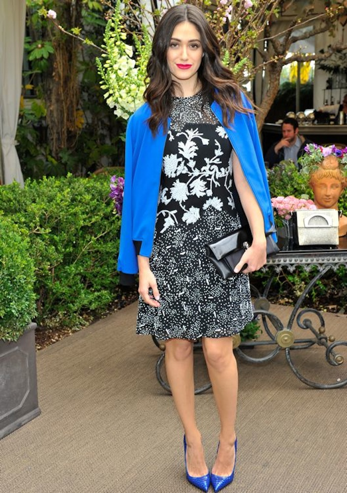 Emmy Rossum at the Christian Louboutin Passage Handbag Collection Launch