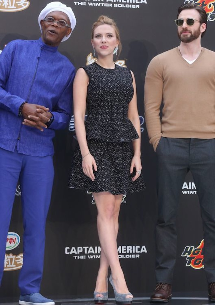 Scarlett Johansson at the Beijing Premiere of Captain America: The Winter Soldier