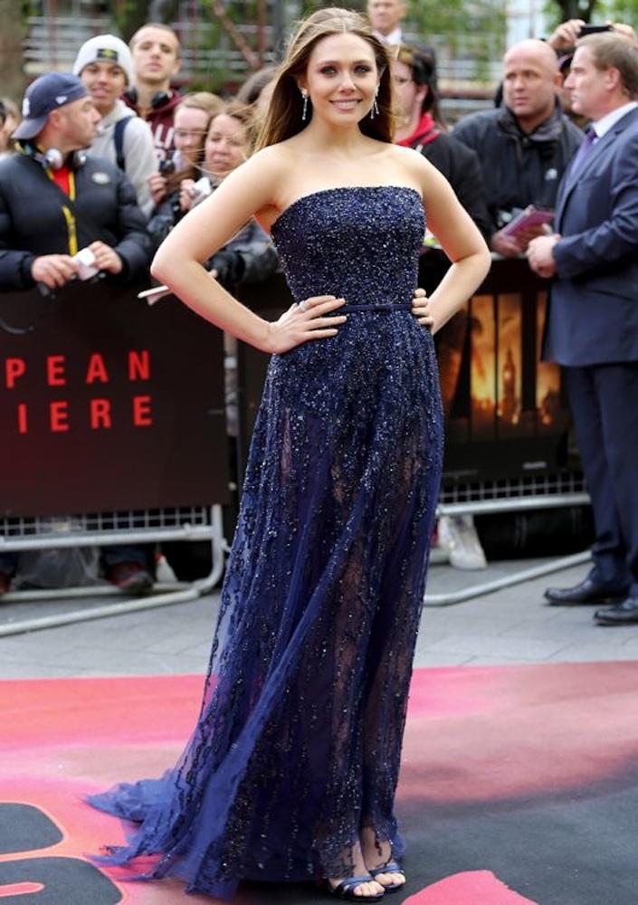 Elizabeth Olsen at the London Premiere of Godzilla