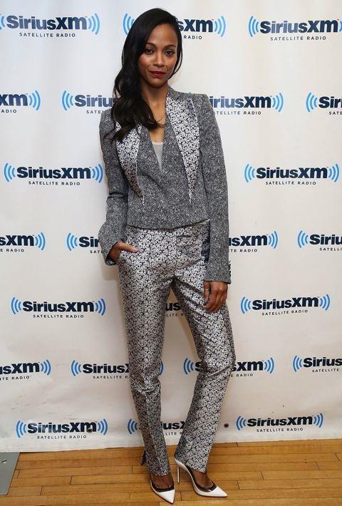 Zoe Saldana at SiriusXM Studios