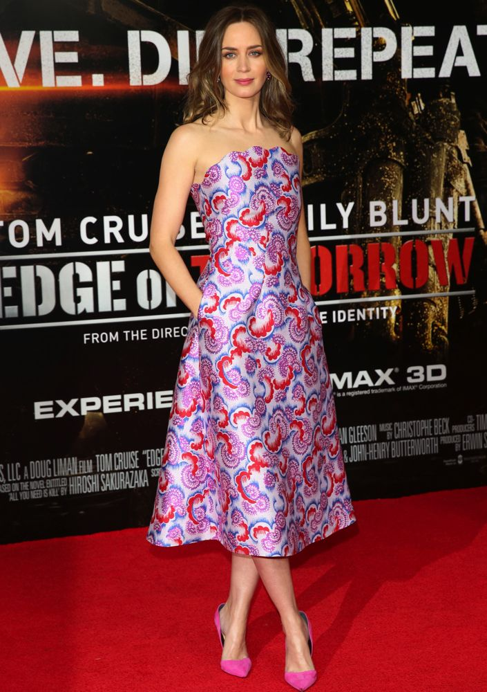 Emily Blunt at the London Premiere of Edge of Tomorrow