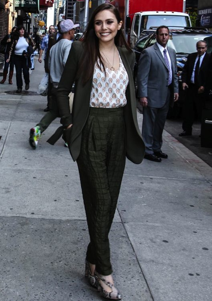 Elizabeth Olsen Appearing on the Late Show with David Letterman