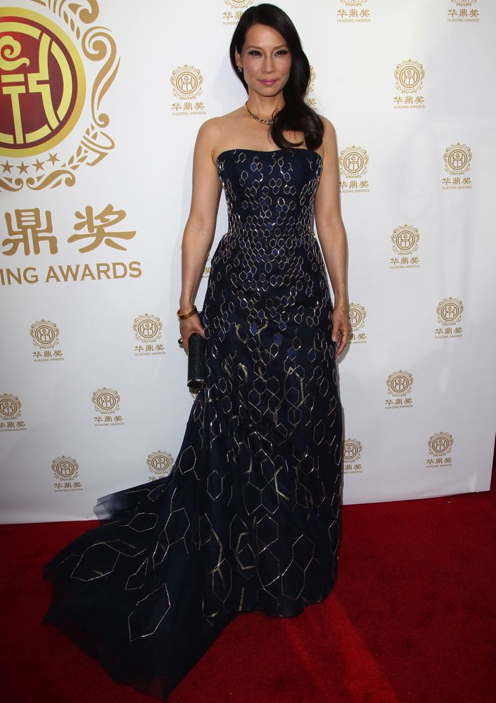 Lucy Liu at the 2014 Huading Film Awards
