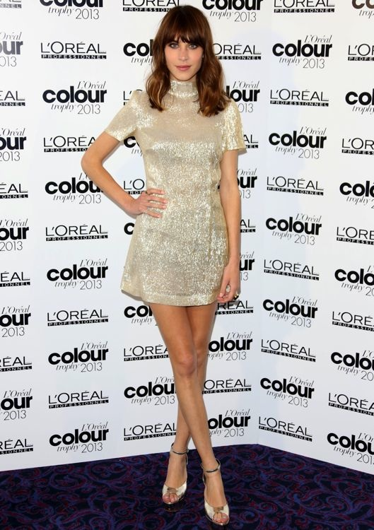 Alexa Chung at the L'Oréal Professionnel Colour Trophy Awards 2013