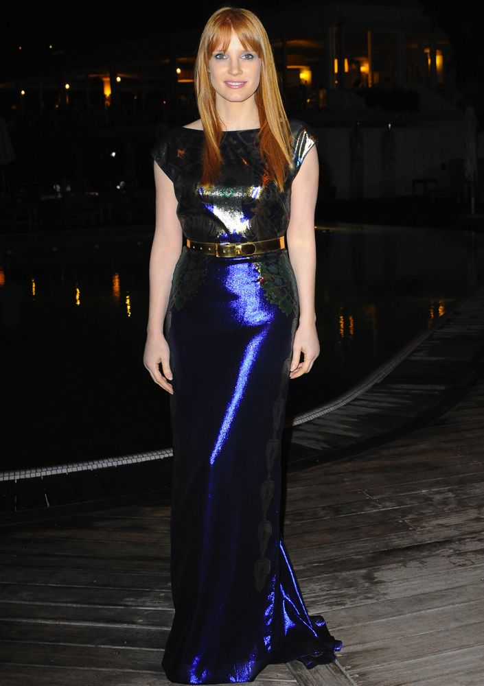 Jessica Chastain at the 2014 Ischia Global Film & Music Festival Premiere of The Disappearance of Eleanor Rigby
