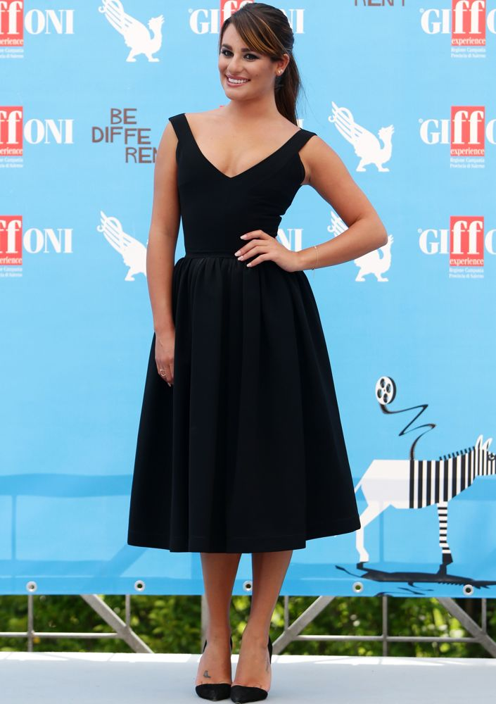Lea Michele at a 2014 Giffoni Film Festival Photocall