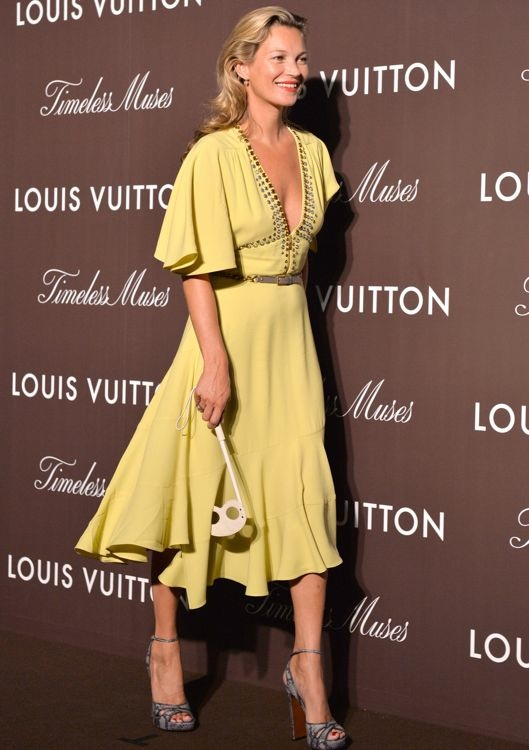 Kate Moss at the Louis Vuitton Timeless Muses Exhibition