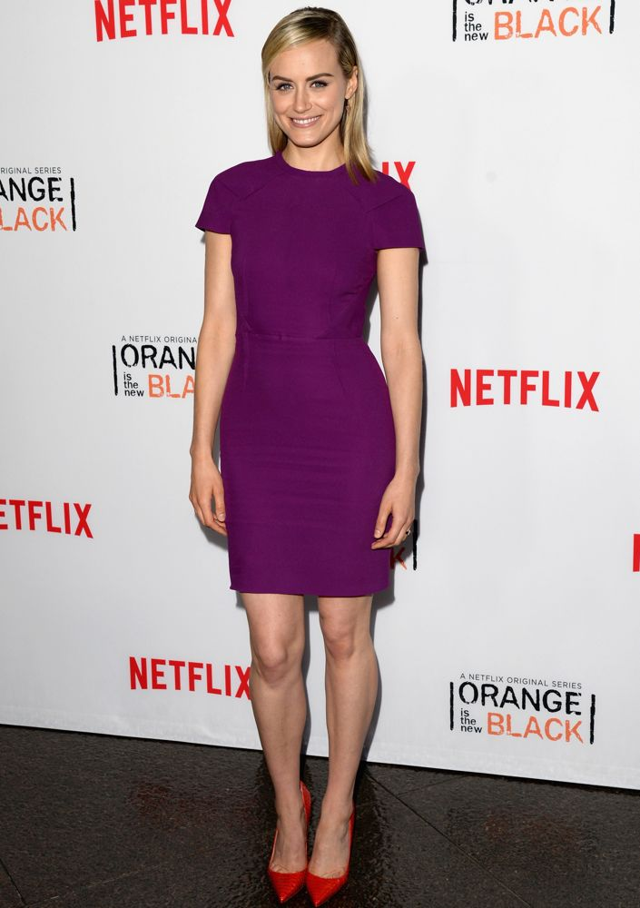 Taylor Schilling at an Orange Is the New Black Panel Discussion