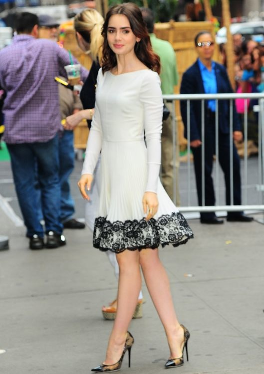 Lily Collins Appearing on Good Morning America