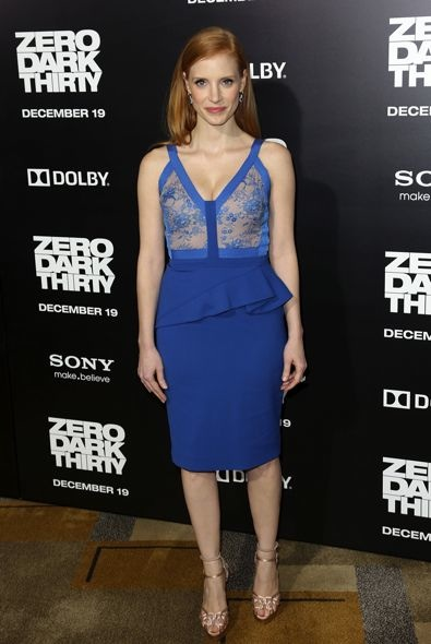 Jessica Chastain at the Los Angeles Premiere of Zero Dark Thirty
