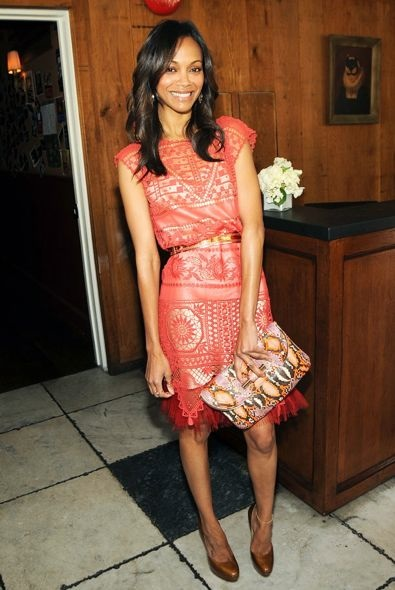 Zoe Saldana at the 25 Most Powerful Stylists Luncheon 