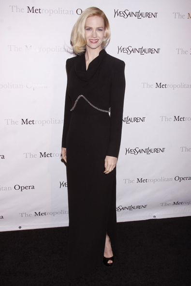 January Jones at the Metropolitan Opera Gala Premiere of Jules Massenet