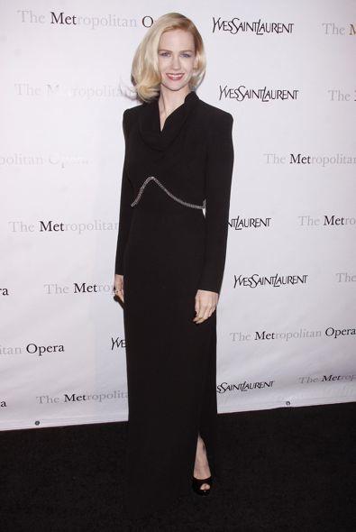 January Jones at the Metropolitan Opera Gala Premiere of Jules Massenet