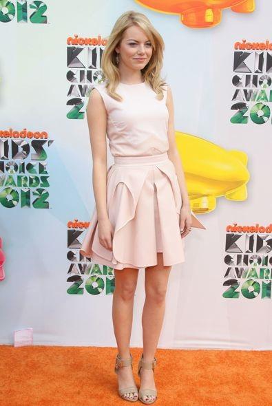 Emma Stone at the 2012 Nickelodeon Kids' Choice Awards