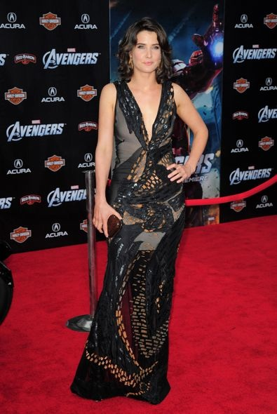 Cobie Smulders at the World Premiere of The Avengers